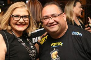 A primeira dama Eliana Lopes e Andre Facchineti