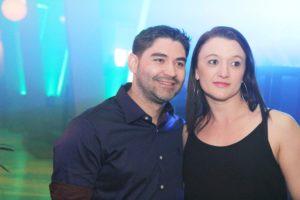 Fernando Ribeiro e Gisely Machado nos 10 anos da Brasil Fitness na boate The Club