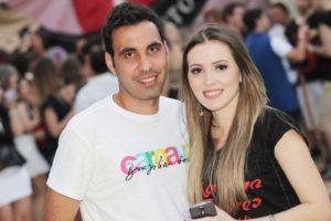 Francys Karlus e Ana Beatriz Costa na choppada da Faceres