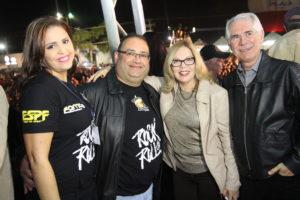 Kely e Andre Facchineti com a vice prefeita Ivani e o deputado Vaz de Lima