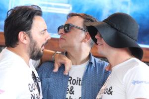 Raryton , Beck e Mirta no gargarejo do show de Marlon e Serginho
