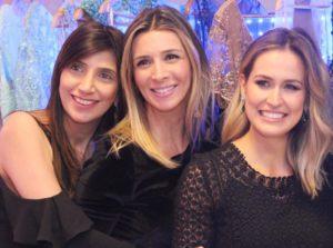 Fernanda Goraybe , Livia Costantini Marques e Karita Facchini no desfile de quarta feira
