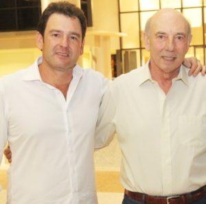 Giuliano e Waldemar Verdi em noite de lançamento