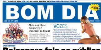 Capa Jornal Bom Dia 17.09