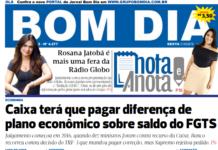 Capa Jornal Bom Dia