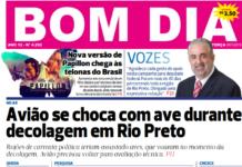 Capa Jornal Bom Dia 09/10/2018